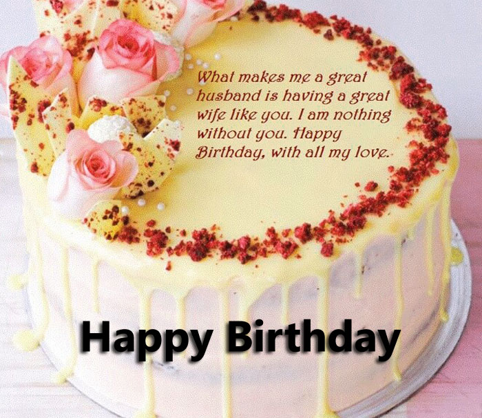 latest Happy Birthday Message cake images hd