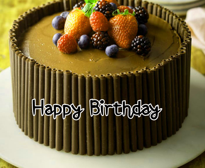 latest Happy Birthday chocolate cake images hd
