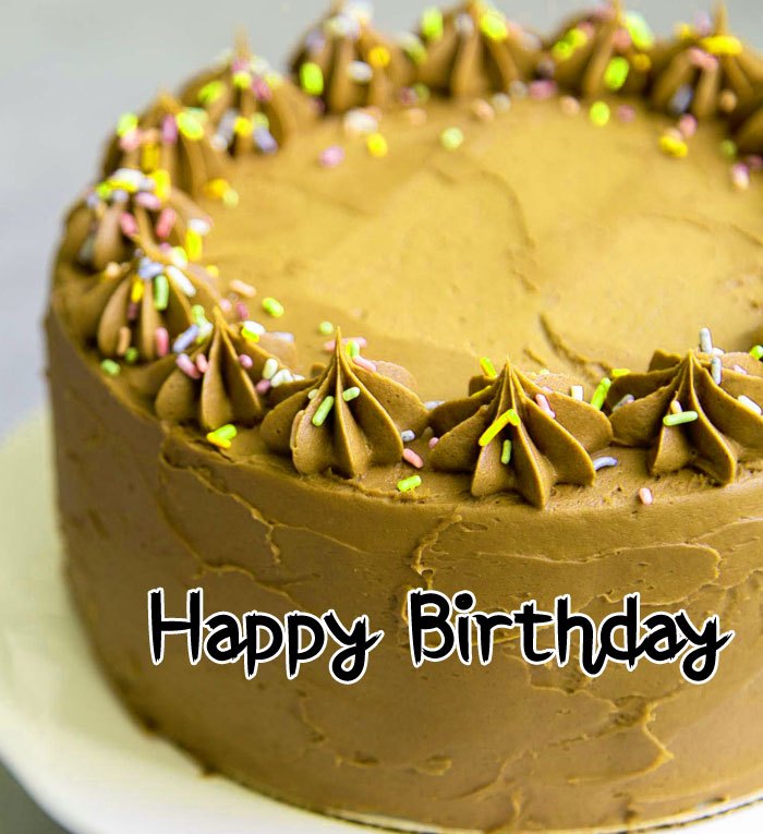 latest Happy Birthday chocolate cake pics