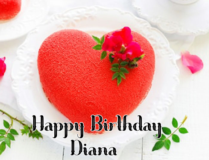 latest Happy Birthday diana red heart images