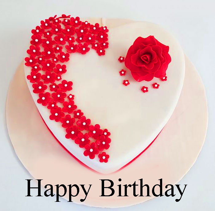 latest Happy Birthday female heart images