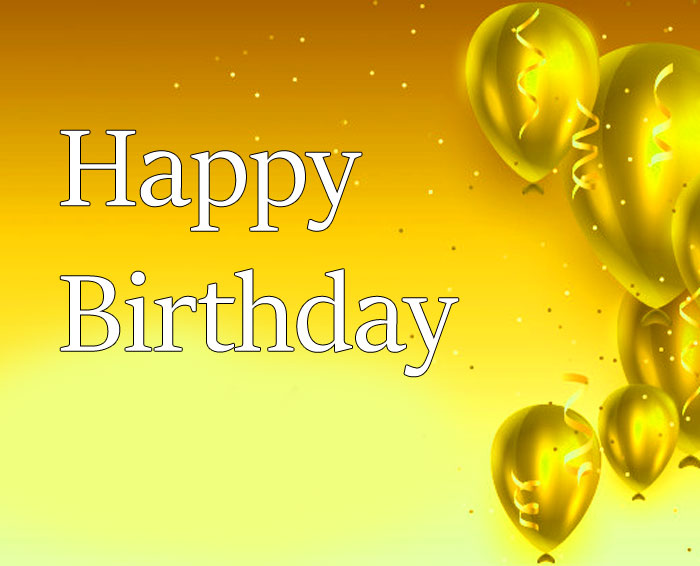 latest Happy Birthday yellow balloon images