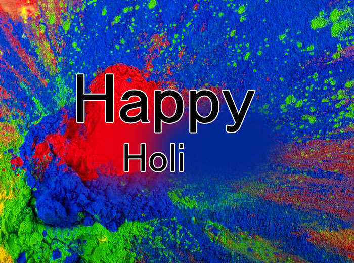latest Happy Holi blue images hd