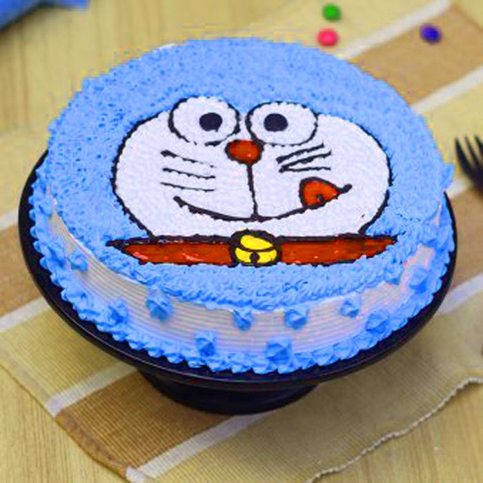latest blue cake Happy Birthday Cartoon wallpaper