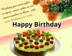 latest cute red cake Happy Birthday Message images hd