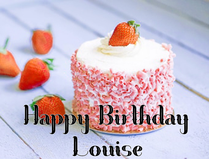 latest cute red heart Happy Birthday Louise photo