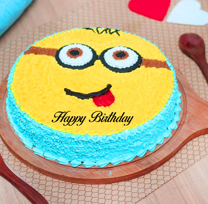 latest yellow cake Happy Birthday Cartoon photo