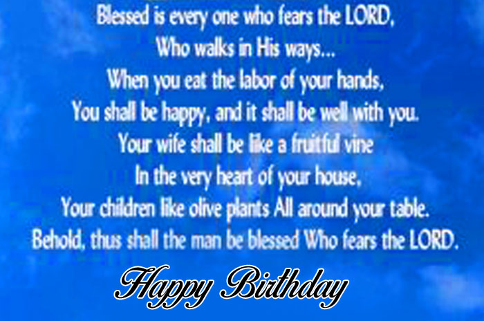 new bible Happy Birthday Blessing images hd