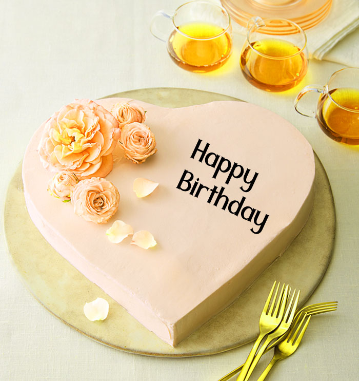 new heart cake Happy Birthday female images hd