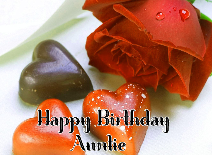 nice Happy Birthday Auntie flower and cakes images