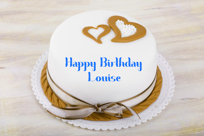 nice heart Happy Birthday Louise cake images