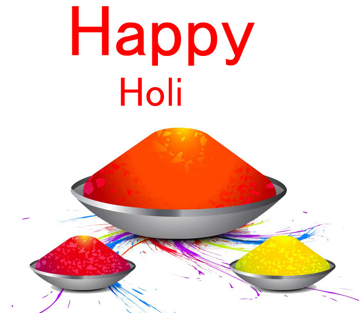nice red color Happy Holi pics hd
