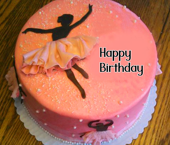 pink cake Happy Birthday female hd