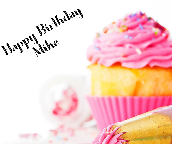 pink cakes Happy Birthday Mike wallpaper