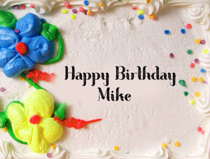 plain Happy Birthday Mike images hd