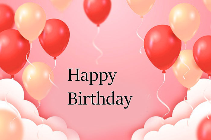 red Happy Birthday balloon images hd