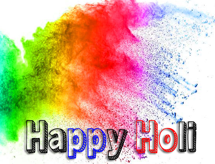red color Happy Holi hd wallpaper