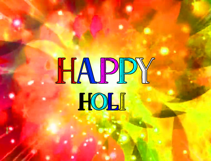 red color Happy Holi wallpaper