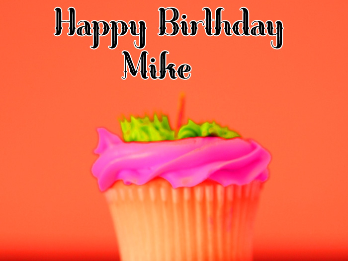 red cup cake Happy Birthday Mike images