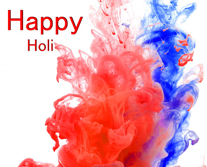 two colorful Happy Holi images