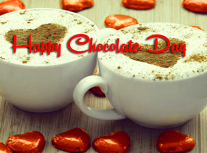 two cup Happy Chocolate Day pics hd