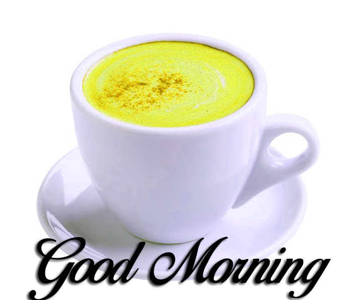 white cup Good Morning images