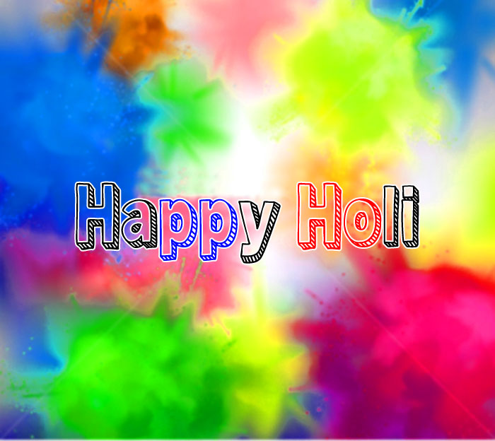 yellow and red colorful Happy Holi photo