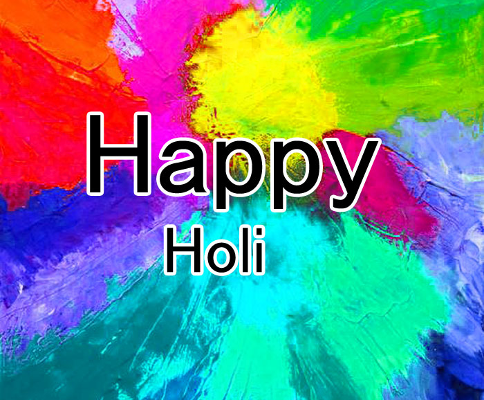 yellow color Happy Holi hd