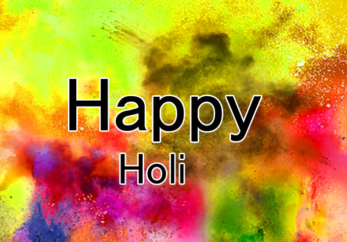 yellow color Happy Holi photo