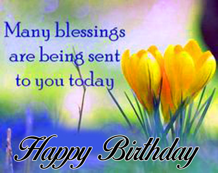 yellow flower Happy Birthday Blessing images hd