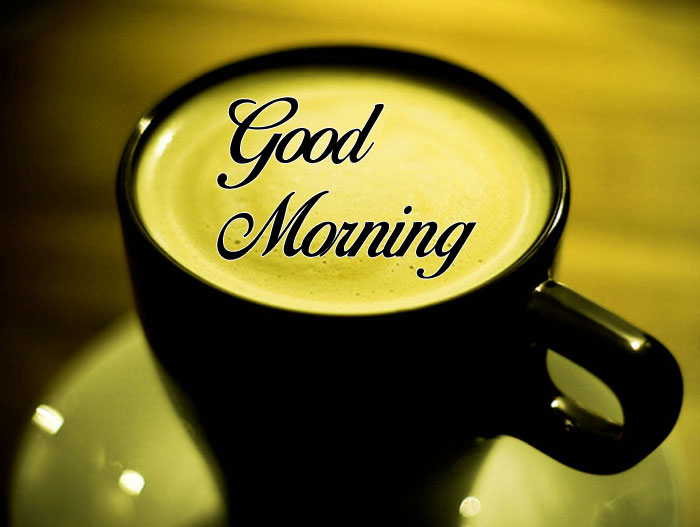 black cup Good Morning images hd