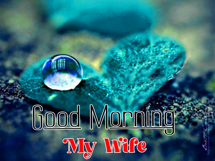 blue heart Good Morning My Wife images hd