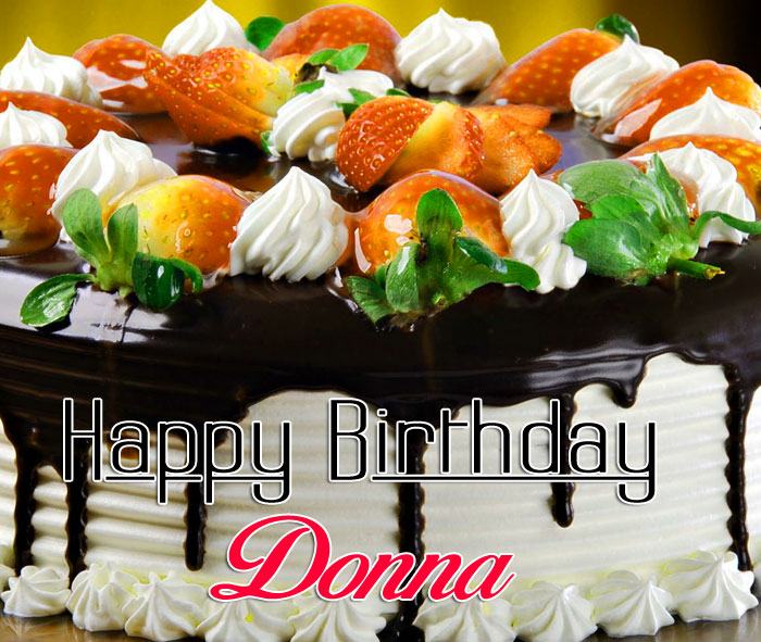 colorful cake Happy Birthday donna images hd