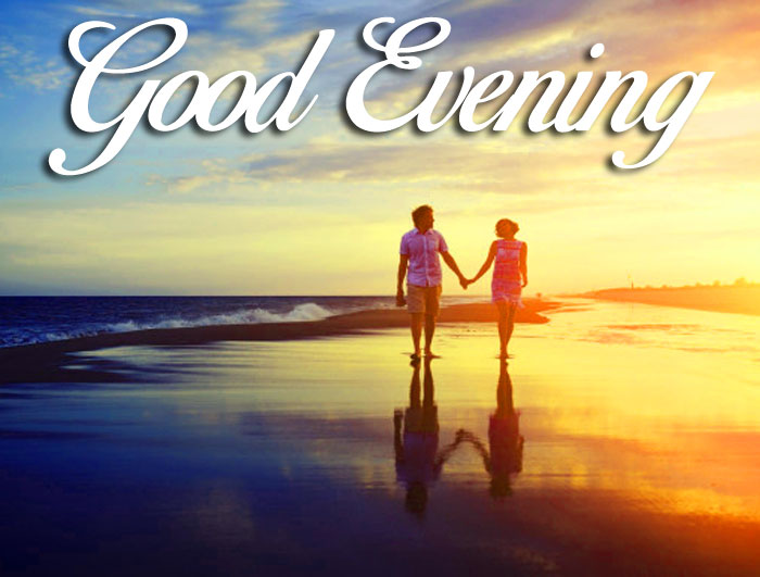 cute Good Evening couple photo