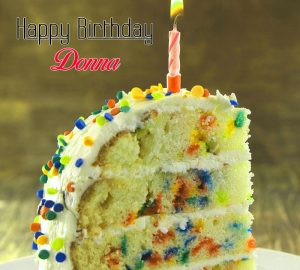 cute cake Happy Birthday donna picture