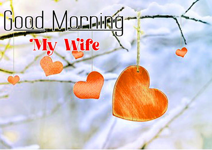 cute red heart Good Morning My Wife hd