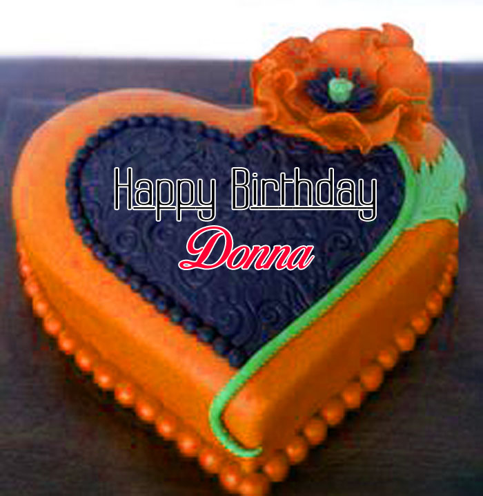 heart cake Happy Birthday donna pics hd