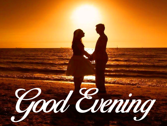 latest Good Evening couple wallpaper