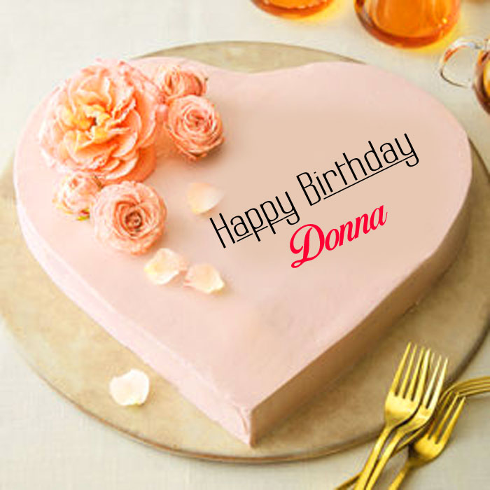 latest heart Happy Birthday donna cake images hd
