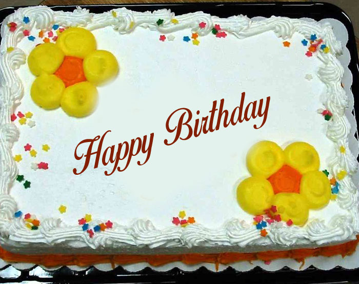 nice flower Happy Birthday Cake images hd