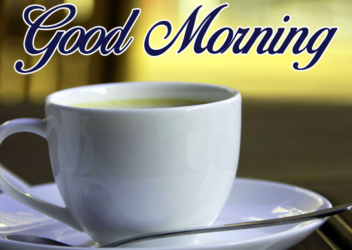 nice white cup Good Morning photo
