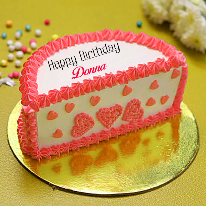 pink white cake Happy Birthday donna images hd