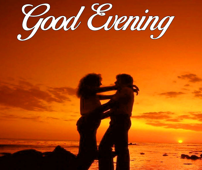 romantic Good Evening couple photo