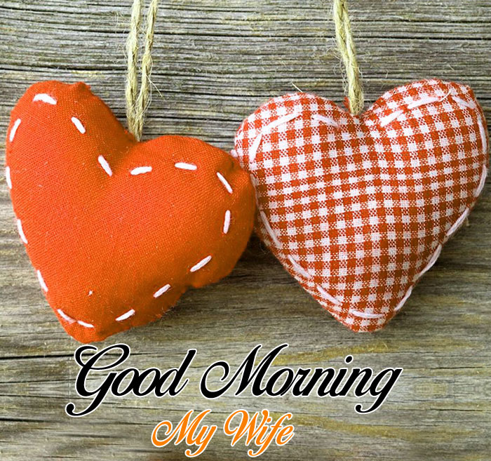 two Good Morning My Wife heart images hd