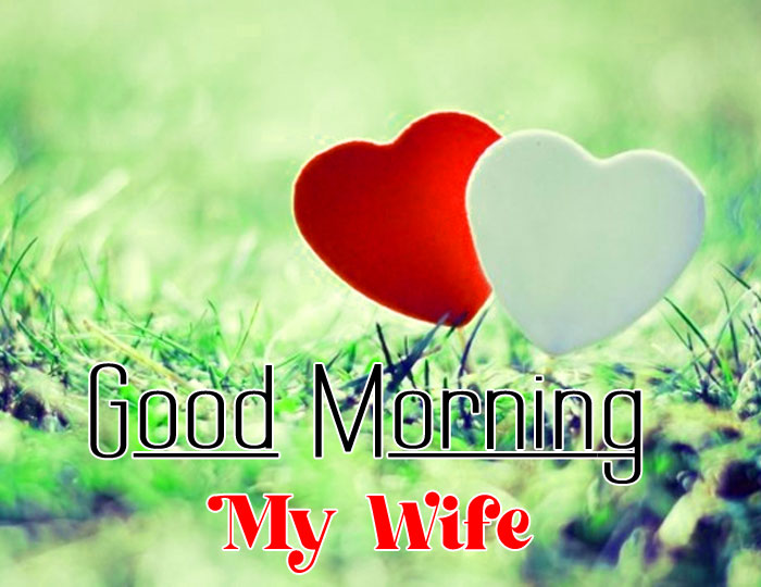 white red heart Good Morning My Wife wallpaper